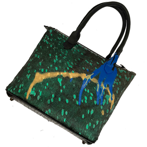 "Emerald Multi-Colored ""Drip"" Medium Tote"