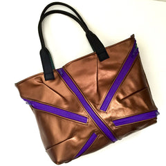 Zippered Copper Tote