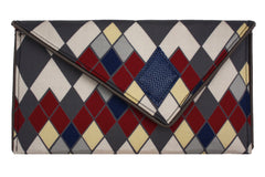 Modern Argyle Pattern Crossbody Clutch