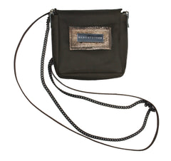 Olive and Pewter Crossbody Pouch