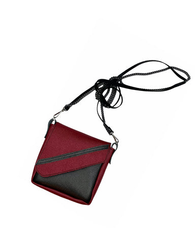 Garnet and Graphite Crossbody Pouch
