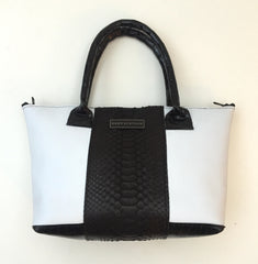 Tuxedo Python, Patent Croco and Leather Tote