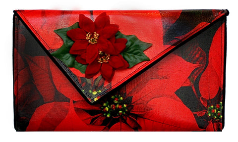 Poinsettia Crossbody Clutch