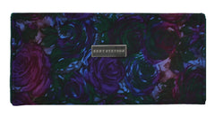 Purple Floral Crossbody Clutch