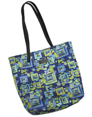 Geometric Pattern and Damask Reversible Tote