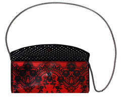 Red Lace Clutch
