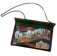 San Antonio Historic Postcard Crossbody Clutch