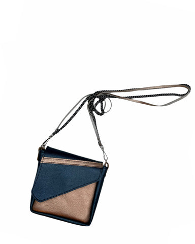Rose Gold and Space Blue Crossbody Pouch