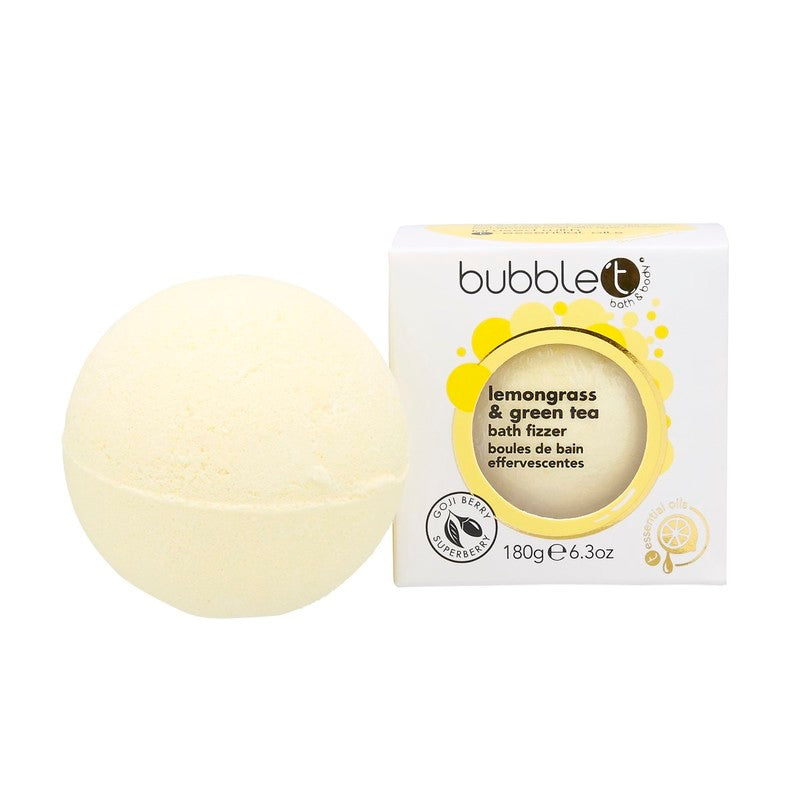 BUBBLE T- BATH FIZZER LEMONGRASS & GREEN TEA 180GR