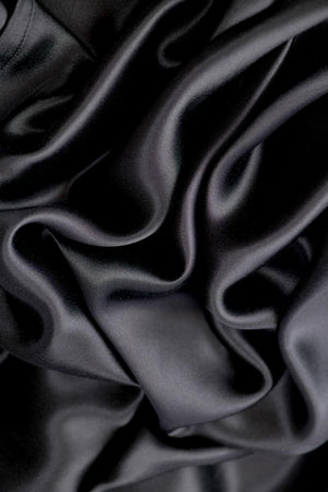 100% Mulberry Silk Pillowcase - Midnight black