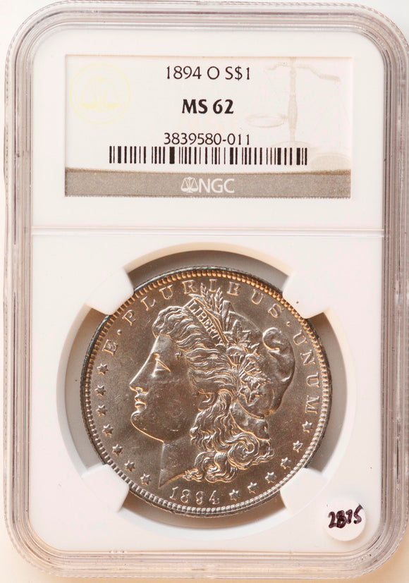 1894-O Morgan Silver Dollar NGC MS-62