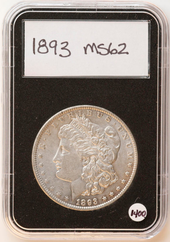 1893 Morgan Silver Dollar MS-62