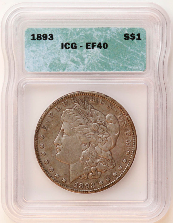 1893 Morgan Silver Dollar XF-40