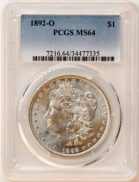 1892-O Morgan Silver Dollar MS-64 PCGS