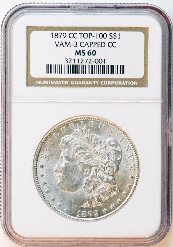 1879-CC Morgan Silver Dollar MS-60 NGC