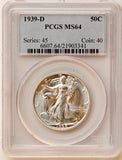 1939-D Walking Liberty Half MS-64 PCGS