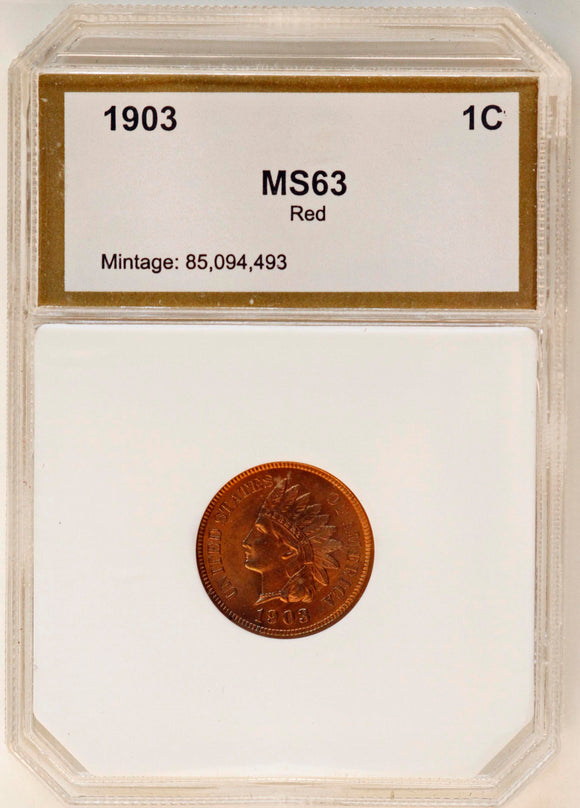 1903 Indian Head Cent MS63RD PCI