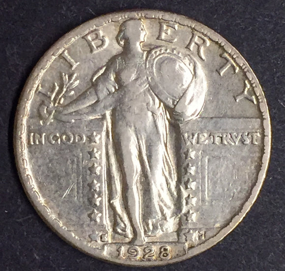 1928-S Standing Liberty Quarter XF/AU