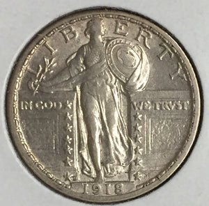 1918-D Standing Liberty Quarter Choice BU