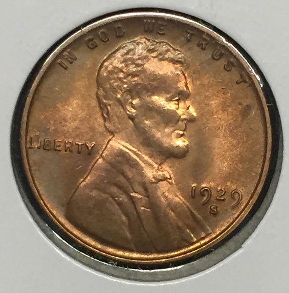 1929-S Lincoln Cent MS63RD