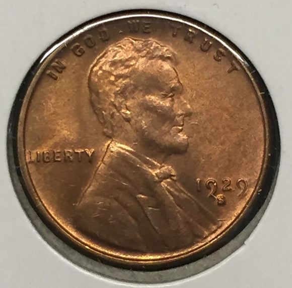 1929-S Lincoln Cent MS65RD