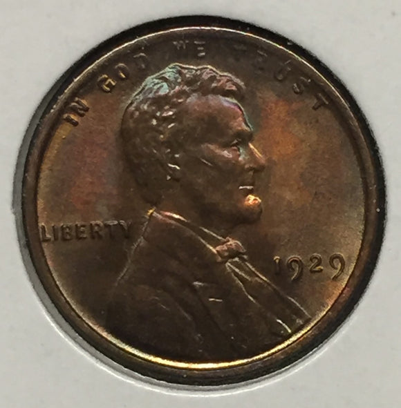1929 Lincoln Cent MS62RB