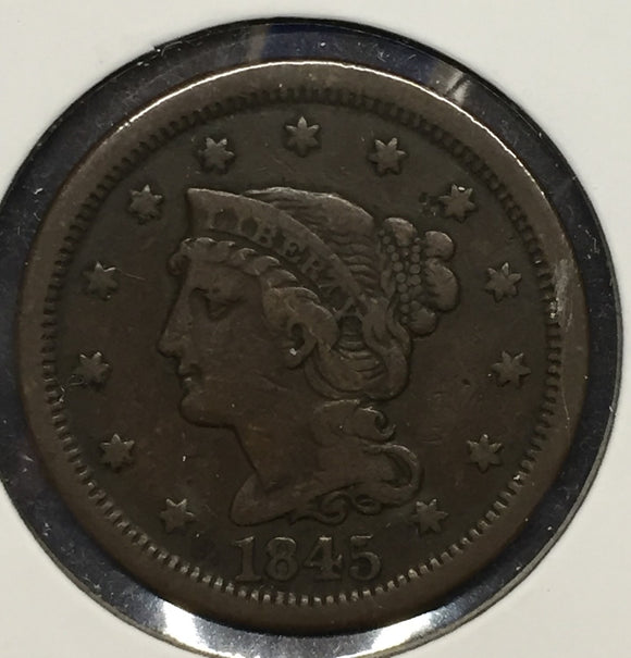 1845 Large Cent VF
