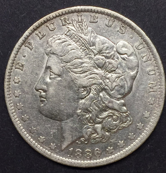 1886-O Morgan Silver Dollar AU-55