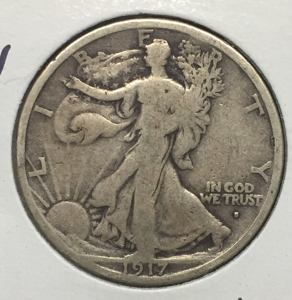 1917-S OBV Walking Liberty Half F-12