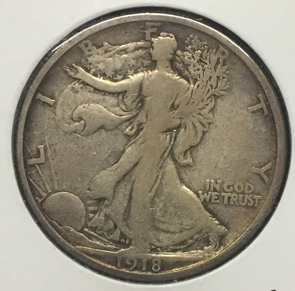 1918-D Walking Liberty Half ABT VF
