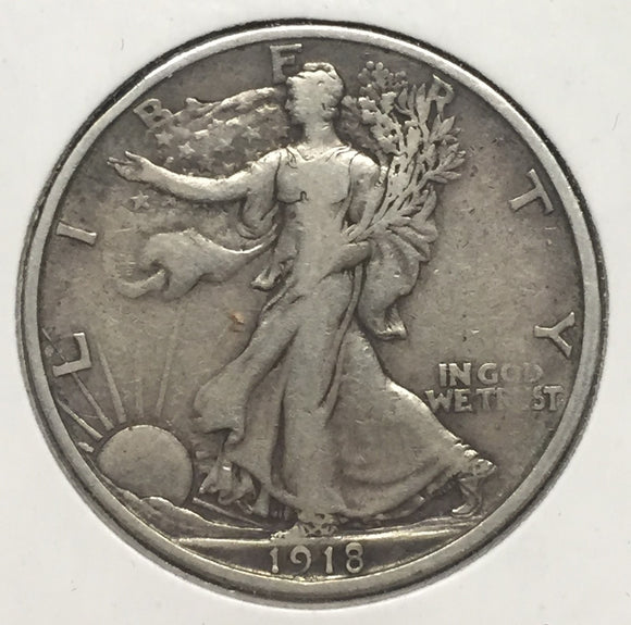 1918-S Walking Liberty Half VF-35