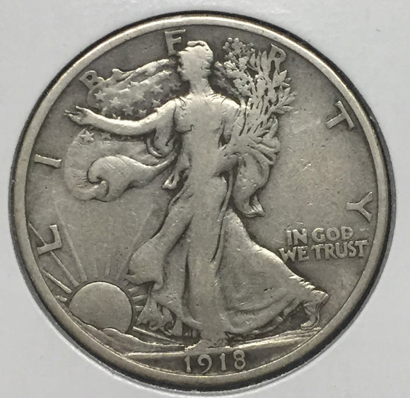 1918-S Walking Liberty Half VF20
