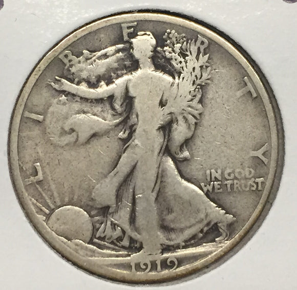 1919-S Walking Liberty Half VG+