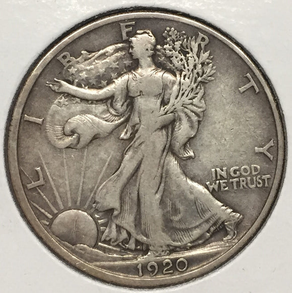1920 Walking Liberty Half XF40