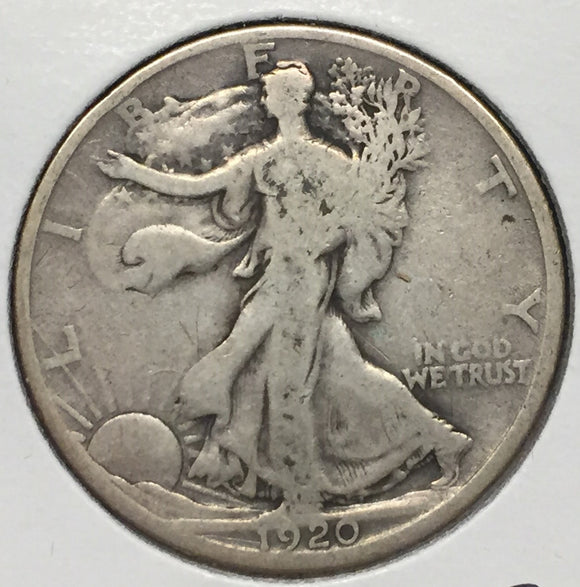 1920-D Walking Liberty Half VG