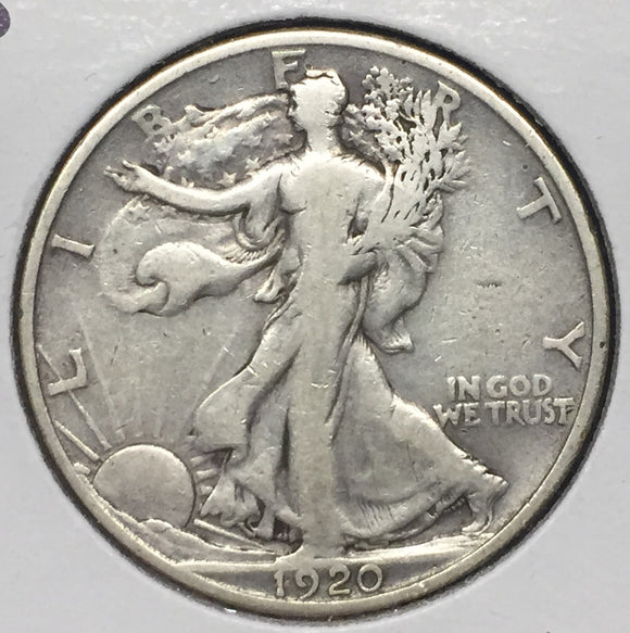 1920-S Walking Liberty Half F-15