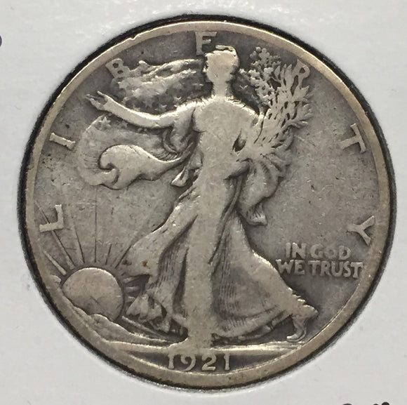 1921-S Walking Liberty Half, Fine
