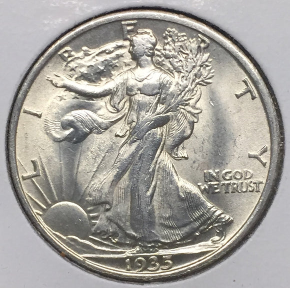 1935 Walking Liberty Half MS63