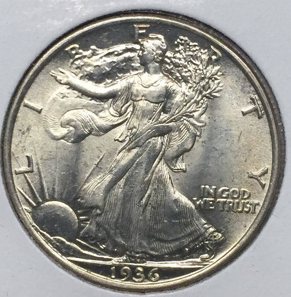 1936 Walking Liberty Half, MS63
