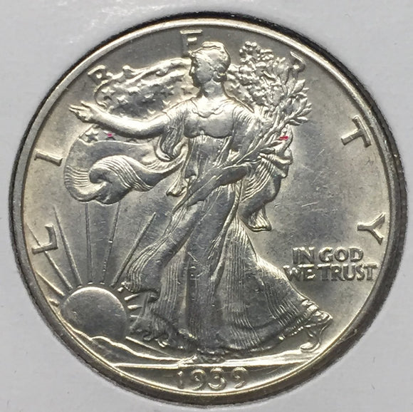 1939-D Walking Liberty Half, Uncirculated