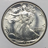 1942 Walking Liberty Half, MS64+
