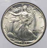 1943 Walking Liberty Half, MS64+