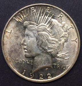 1922-D Peace Dollar, MS-63