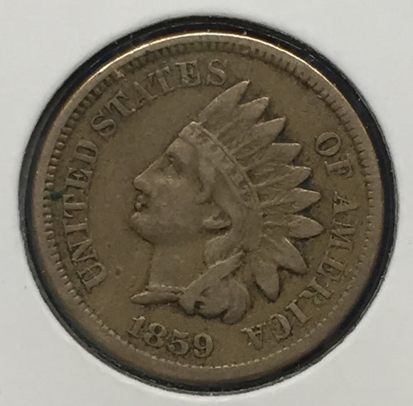 1859 Indian Head Cent, VF