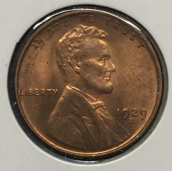 1929-S Lincoln Cent, MS64Rd.