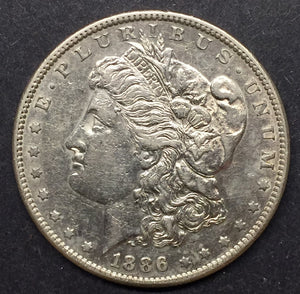 1886-S Morgan Silver Dollar, AU