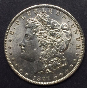 1897 Morgan Silver Dollar, MS63