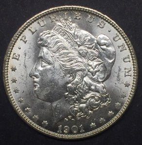 1901-O Morgan Silver Dollar, MS63