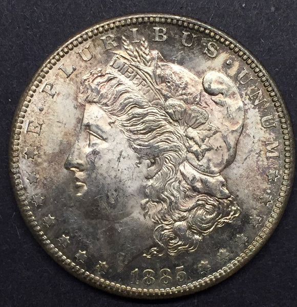 1885-S Morgan Silver Dollar, MS-63+