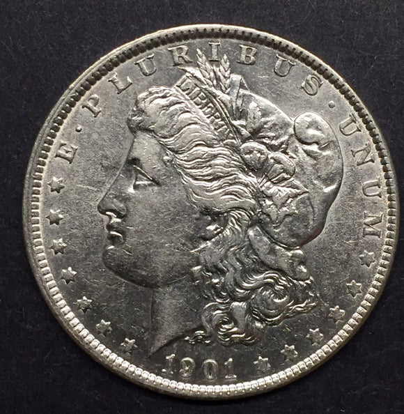 1901 Morgan Silver Dollar, AU50